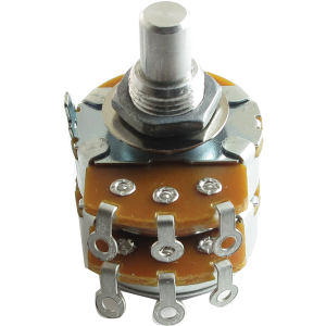 "Potentiometer - Alpha, Audio, Dual, ⅜"" Bushing"