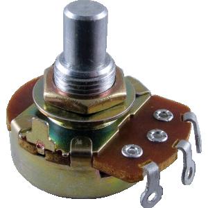 "Potentiometer, Alpha 500K audio, 3/8"" bushing"