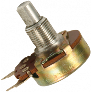 "Potentiometer - 500K Audio, 24mm, 3/8"" Bushing, PC Mount"