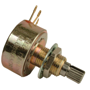 Potentiometer - 500K Audio, 1 Watt Mil. Spec, Split Knurled Shaft, Alessandro