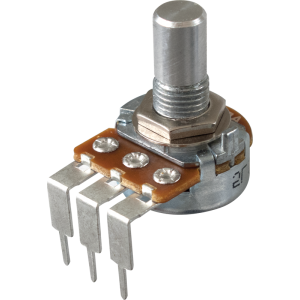 Potentiometer - Alpha, Audio, Solid Shaft, Long PC Lead, 16mm