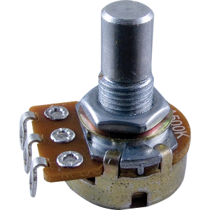 """Alpha 8mm Bushing Potentiometer 50k Log//Audio 1//4/"""" solid shaft solder tabs 50KA"""