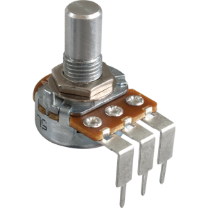 Potentiometer - Alpha, Linear, Solid Shaft, Long PC Lead, 16mm