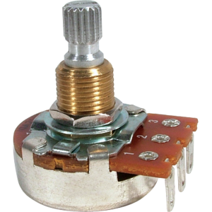Potentiometer - Bourns, 250K/300K/500K Linear Taper, Knurled Split Shaft