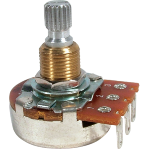 Potentiometer - Audio, Bourns, knurled split shaft, 250k/500k