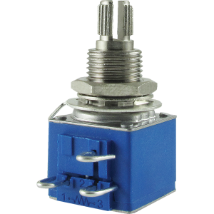 Potentiometer - Audio, Bourns, conductive polymer, knurled split shaft, 250k/500k