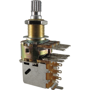 Potentiometer - Bourns, Audio, Knurled Shaft, Dual Mini, Push-Pull