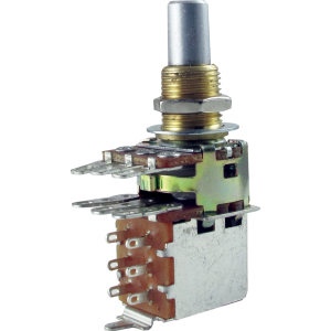 Potentiometer - Dual Mini Guitar Potentiometers with Push Pull Switch (PDB183-GTR21), Audio, Solid Shaft