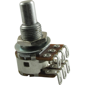 Potentiometer - Bourns, Dual MN Taper, Solid Shaft, 500K