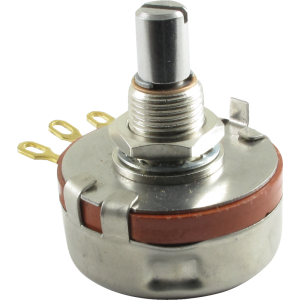 Potentiometer - Precision Electronics, 250K Linear, 28mm, Slotted Solid Shaft