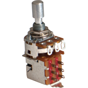 Potentiometer - Alpha, 1M, Audio, DPDT, 7mm Bushing, Solder Lug