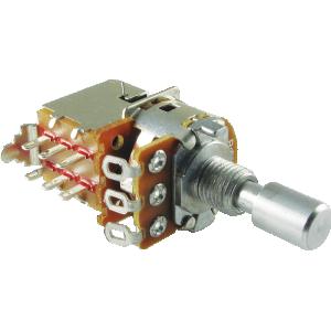 Potentiometer - Alpha, Linear, Solid, DPDT, 7mm Bushing