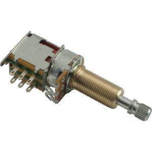 Potentiometer - 500K, Audio, Knurled Long, DPDT, Push-Push