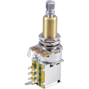 Potentiometer - 500K, Linear, Knurled Long, DPDT, Push-Push