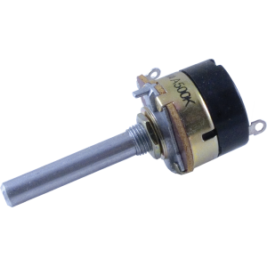 "Potentiometer - SPST Switch, 500K Audio, 1/4"" x 1 3/8"" Shaft"
