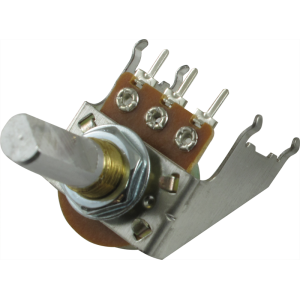 Potentiometer - Audio, D Shaft, 16mm, Snap-In, Bracket