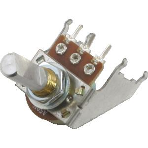 Potentiometer - 16mm, Snap-In, with Bracket, 50KA, D Shaft
