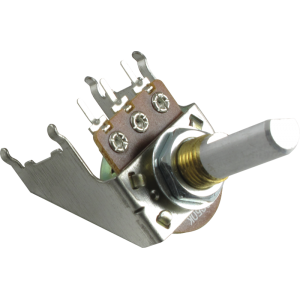 Potentiometer - 16mm, Snap-In, with Bracket, 50K Reverse Audio, D Shaft