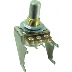 Potentiometer - 16mm, Snap-In, with Bracket, 50K Reverse Audio, Solid Shaft