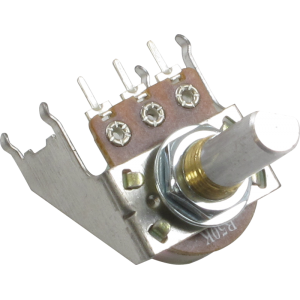 Potentiometer - 16mm, Snap-In, with Bracket, 50KL, D Shaft, No Detent