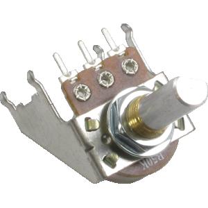 Potentiometer - Linear, D Shaft, 16mm, Snap-In, Bracket