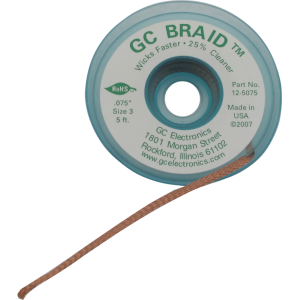 Solder wick - GC Braid, multiple sizes