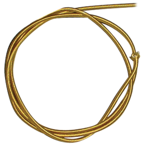 Wire - 18 Gauge Braided Power Cord, Parallel Gold, per foot