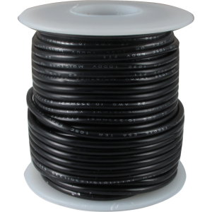 Wire - Hook-Up, 22 AWG, 50' roll, Black
