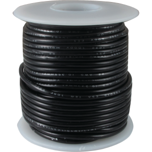 Black 20 Gauge Stranded Cloth Wire 50 Feet