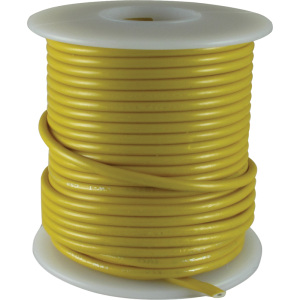 Wire - Hook-Up, 22 AWG, 50' roll, Yellow