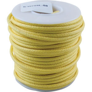 Wire - Hook-Up, Lacquered, 50' Spool, Yellow