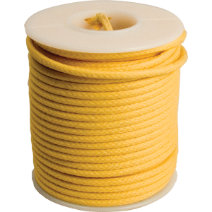Wire - 20 AWG, Solid Core, Lacquered Cloth Cover, Yellow, 600V