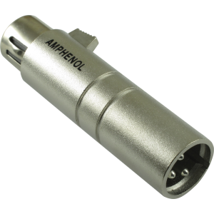 XLR 3 pole female to 3 pole male adapter, Amphenol