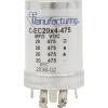 Capacitor - CE Mfg., 475V, 20/20/20/20µF, Electrolytic image 1