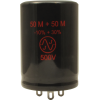 Capacitor - JJ Electronics, 500V, 50/50µF, Electrolytic image 1
