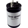 Capacitor - 500V, 50/50 μF, Electrolytic image 1