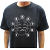 T-Shirt - Black with Dual Triode Tube Pin-out image 2