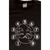 T-Shirt - Black with Dual Triode Tube Pin-out image 1