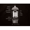 T-Shirt - Black with 12AX7 Tube Diagram image 1