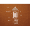 Shirt - Rust with 12AX7 Tube Diagram image 1