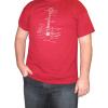 Shirt - Cardinal Red with Guitar Diagram image 2