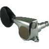 Tuners - Gotoh, Midsize 510 Black Plastic, Chrome, 3 per side image 2