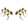 Tuners - Gotoh, SE700, gold, keystone knob, 3 per side image 3