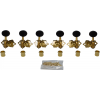 Tuners - Gotoh, SE700, gold, round knob, 3 per side image 1