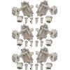 Tuners - Kluson, Oval, 3 per side, Nickel image 1