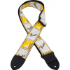 "Guitar Strap - Fender, 2"", White / Brown / Yellow image 1"