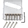 Bridge - Fender®, for Tele, 6 Barrel Saddles, Chrome image 1