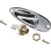 Jack Plate - Fender®, for Stratocaster, chrome image 2