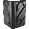 Corner - Black Plastic, 4-Hole, Heavy Duty, Chevron image 1