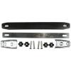 Handle - Fender, Black Plastic, Silver Caps, 2 screws per cap image 1